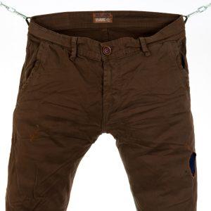 Ανδρικό παντελόνι Back2jeans Brown με λάστιχο