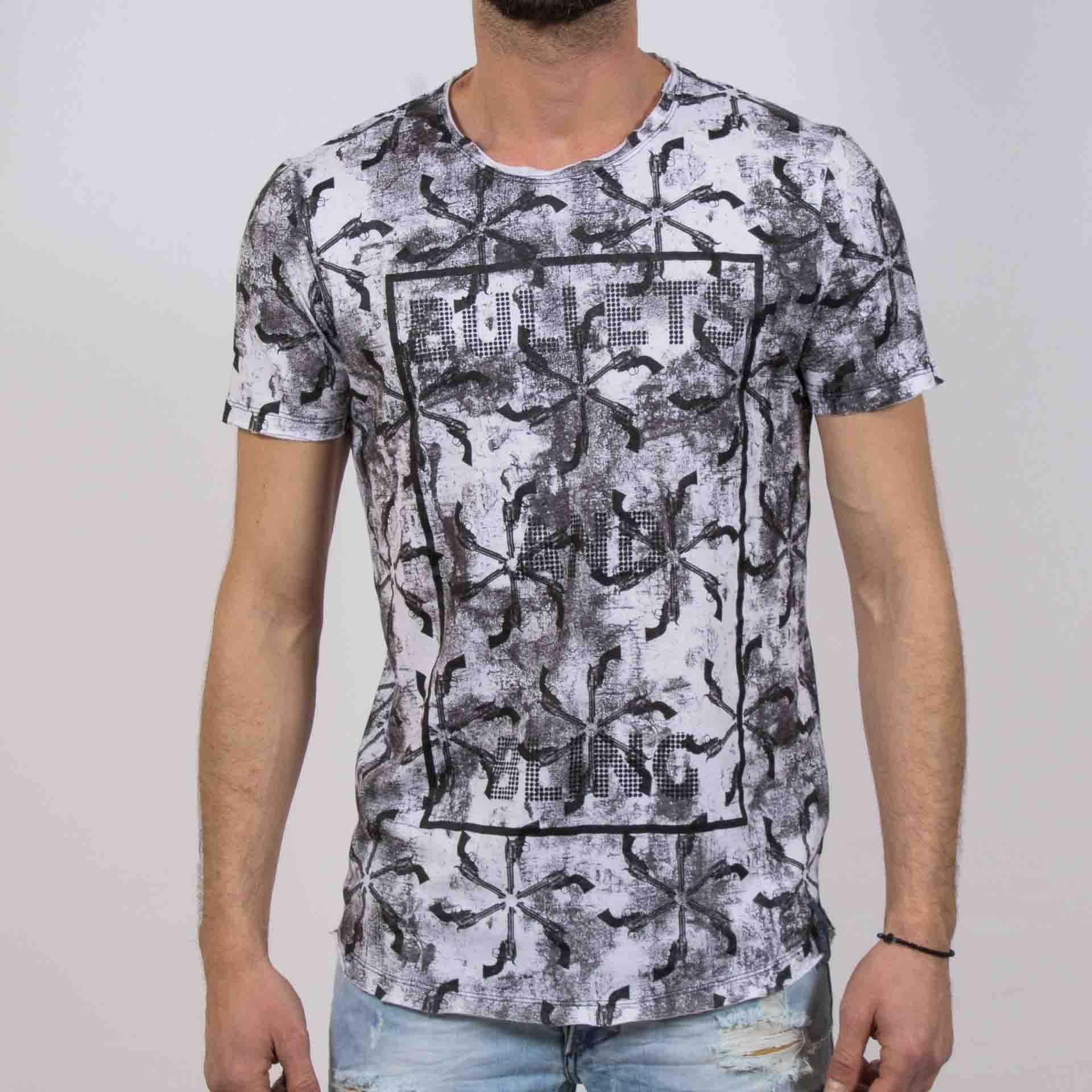 bebeb737dba8 Ανδρική μπλούζα T-Shirt  Hashtag Bullets