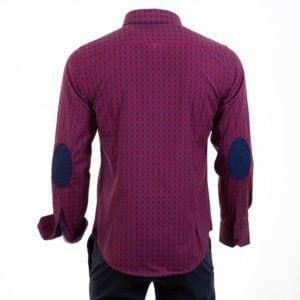 Ανδρικό πουκάμισο CND Shirts Μπλέ-Κόκκινο