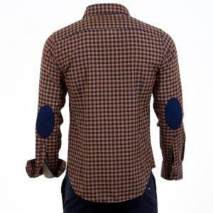 Ανδρικό πουκάμισο CND Shirts Κάμελ-Μπλέ