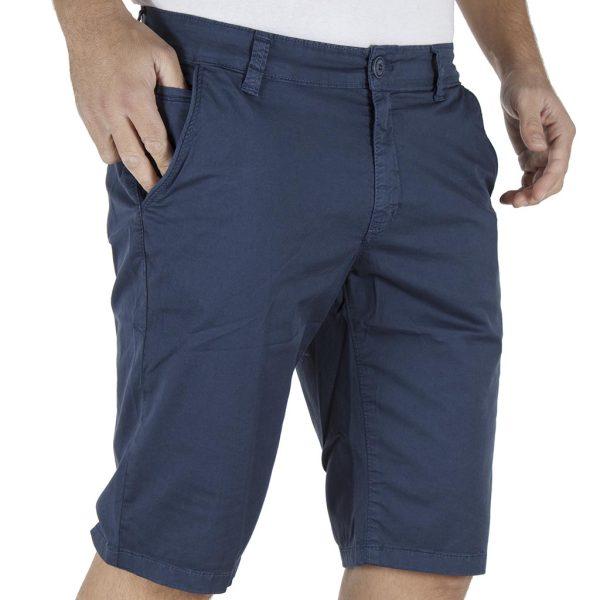 Βαμβακερή Βερμούδα Chinos DAMAGED Jeans DB14 Navy