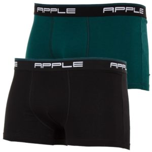 Εσώρουχο Μπόξερ APPLE 0112934 Σετ 2 τεμ. Μαύρο & Πράσινο