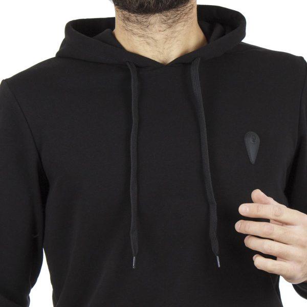 Ζακέτα Φούτερ με Κουκούλα HOODIE COVER BILLY Z315 Μαύρο