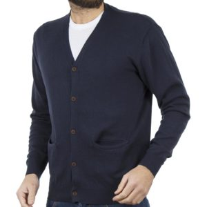 Πλεκτή Ζακέτα Buttons CARDIGAN DOUBLE KNIT-21 Navy