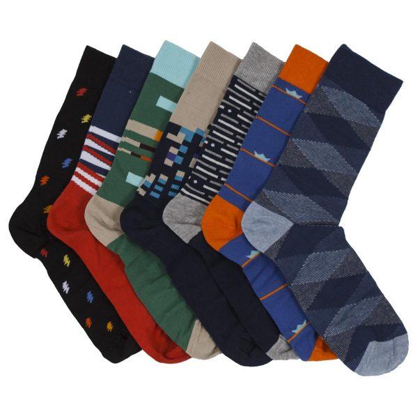 Κάλτσες DESIGN 095-2 σετ 7 ζευγάρια ONE SIZE 40-44 Εμπριμέ