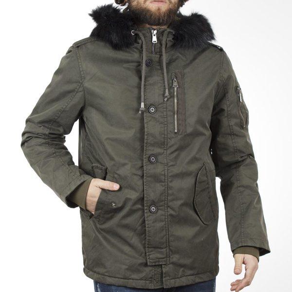 Μακρύ Μπουφάν Parka Jacket με Κουκούλα SPLENDID 40-201-049 σκούρο Πράσινο