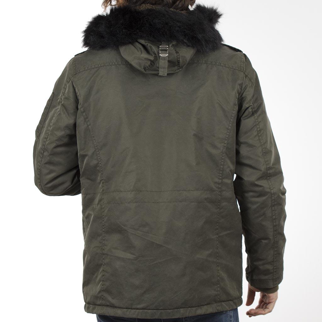 Μακρύ Μπουφάν Parka Jacket με Κουκούλα SPLENDID 40-201-049 σκούρο Πράσινο e90cb736190