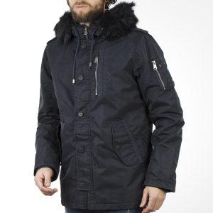 Μακρύ Μπουφάν Parka Jacket με Κουκούλα SPLENDID 40-201-049 Navy cf525ae0c06