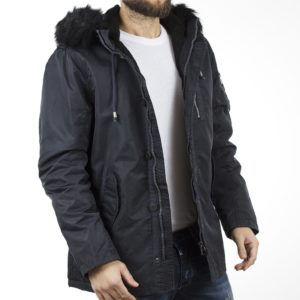 Μακρύ Μπουφάν Parka Jacket με Κουκούλα SPLENDID 40-201-049 Navy