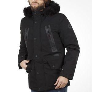 Μακρύ Μπουφάν Parka Jacket με Κουκούλα SPLENDID 40-201-076 Μαύρο
