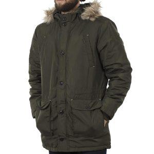 Μακρύ Μπουφάν Parka Jacket με Κουκούλα BLEND 20706799 Olive