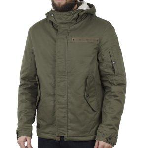 Μακρύ Μπουφάν Parka Jacket με Κουκούλα ICE TECH A500-17 ανοιχτό Πράσινο