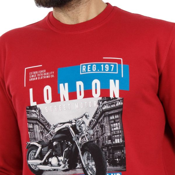 Μακρυμάνικη Μπλούζα CARAG 66-220-19N Κόκκινο