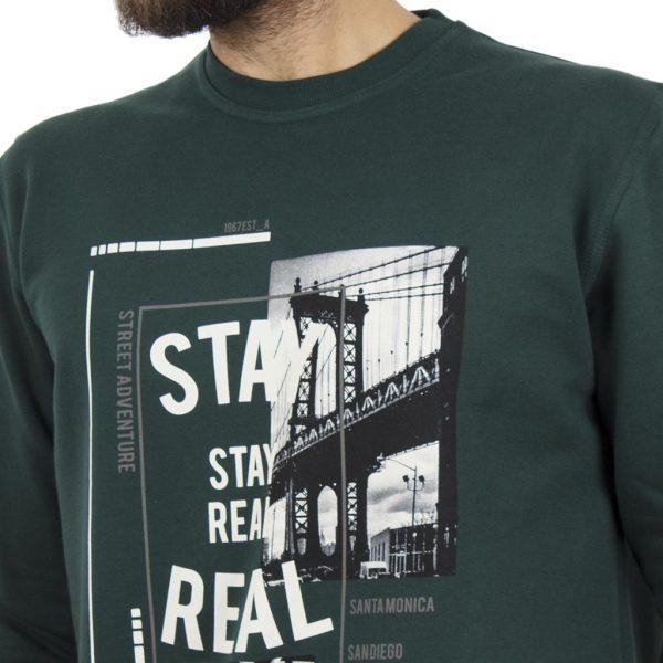 Μακρυμάνικη Μπλούζα CARAG 66-288-19N Πράσινο