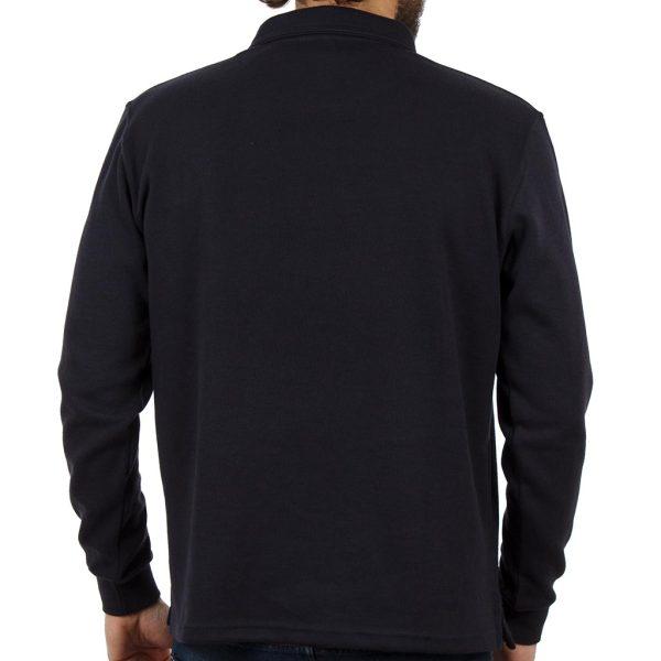 Μακρυμάνικη Μπλούζα με Γιακά POLO CARAG CORN 77-555-19N Navy