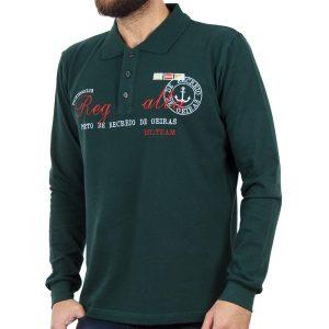 Μακρυμάνικη Μπλούζα με Γιακά POLO CARAG PIQUE 99-505-19N Πράσινο