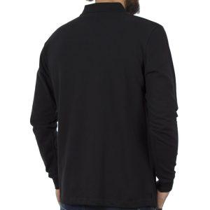 Μακρυμάνικη Μπλούζα με Γιακά POLO CARAG PIQUE 99-599-19N Μαύρο