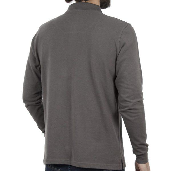 Μακρυμάνικη Μπλούζα με Γιακά POLO CARAG PIQUE 99-599-19N Γκρι
