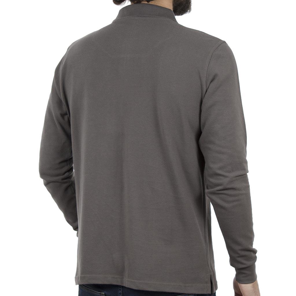 Μακρυμάνικη Μπλούζα με Γιακά POLO CARAG PIQUE 99-599-19N Γκρι ... 7325608e39a