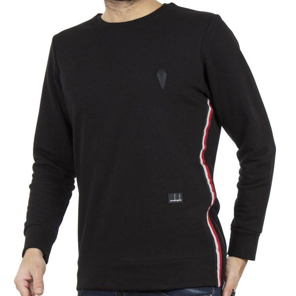 Μακρυμάνικη Μπλούζα COVER STONE Z313 Μαύρο