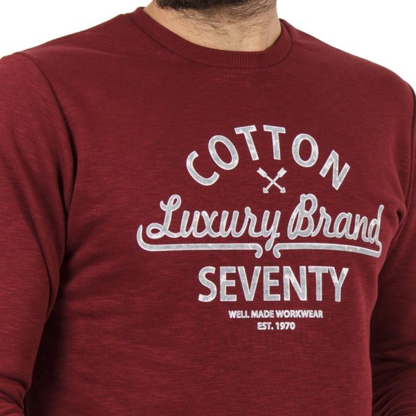 Μακρυμάνικη Μπλούζα Cotton4all 19-642 Μπορντό