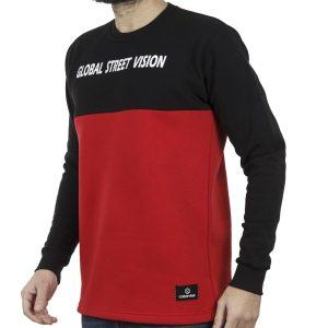 Μακρυμάνικη Δίχρωμη Μπλούζα Cotton4all 19-690 Κόκκινο