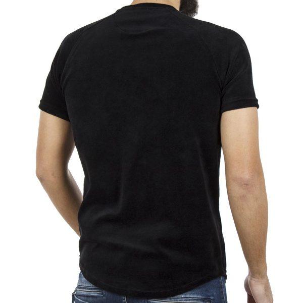 Κοντομάνικη Βελουτέ Μπλούζα T-shirt FREEWAVE 82116 Μαύρο