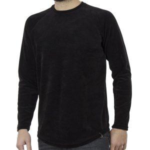Μακρυμάνικη Βελουτέ Μπλούζα FREE WAVE 82125 Μαύρο