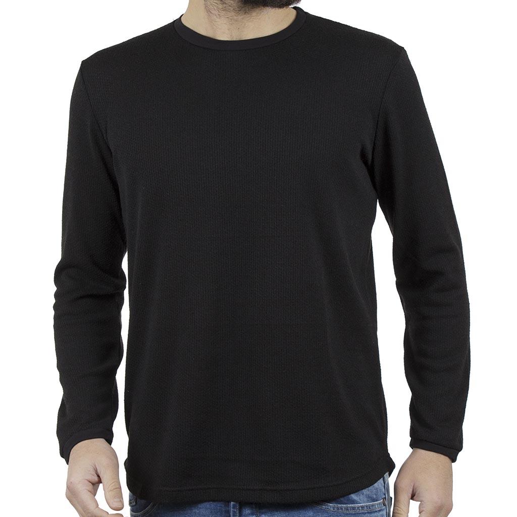 7c7a056a35fd Πλεκτή Μπλούζα  HASHTAG W18028 PARMA Μαύρο