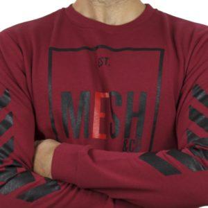 Μακρυμάνικη Μπλούζα MESH&CO Frontline 05-285 Κόκκινο