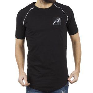 Κοντομάνικη Μπλούζα T-Shirt PONTEROSSO 18-2037 WICK Μαύρο