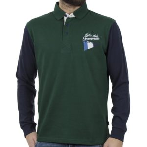 a66975d9770a Μακρυμάνικη Μπλούζα με Γιακά Polo SNTA S14-1-06 Πράσινο