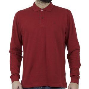 Μακρυμάνικη Μπλούζα με Γιακά Polo SNTA S14-1-14 Κόκκινο