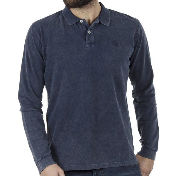 Μακρυμάνικη Μπλούζα με Γιακά Polo SNTA SW16-2-28 Indigo