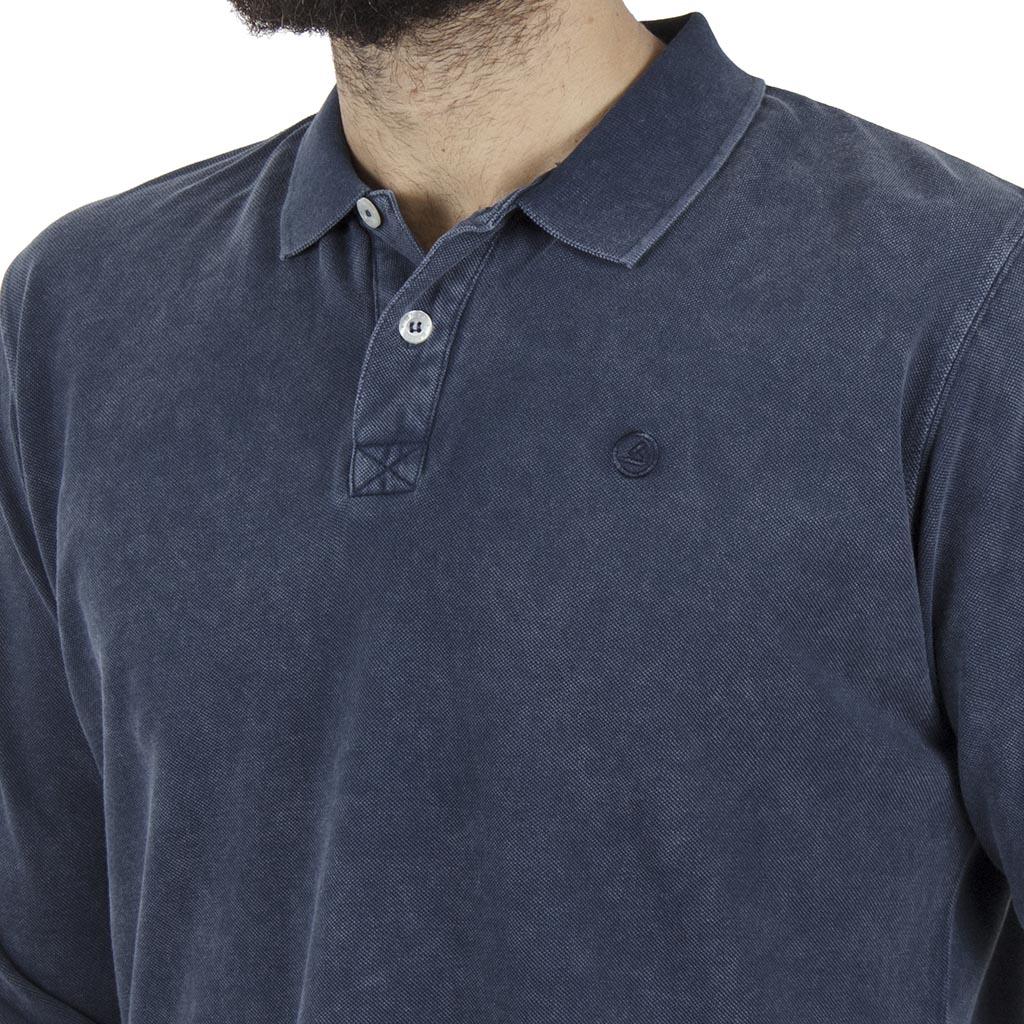 325d29a57b68 Μακρυμάνικη Μπλούζα με Γιακά Polo SNTA SW16-2-28 Indigo