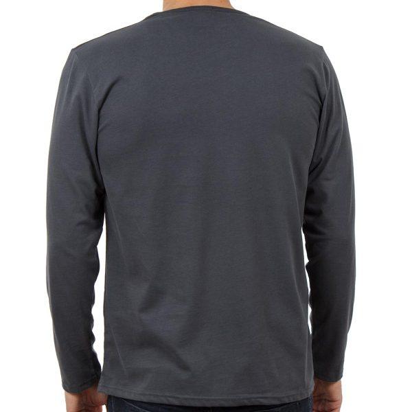 Μακρυμάνικη Μπλούζα SCINN ST011 EBONY σκούρο Γκρι