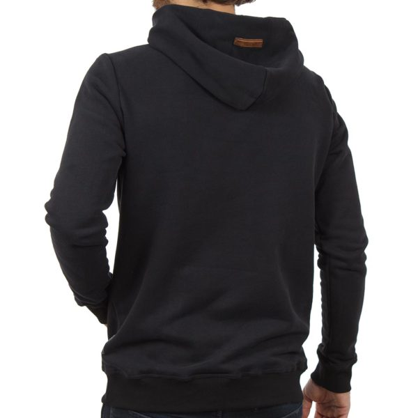 Μπλούζα Φούτερ με Κουκούλα HOODIE SCINN ST016 Μαύρο