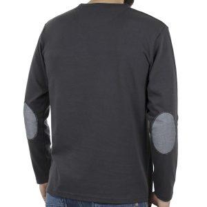 Μακρυμάνικη Μπλούζα με Γιακά Polo SNTA S14-1-03 Ανθρακί