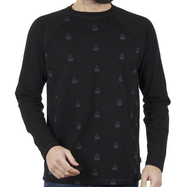 Μακρυμάνικη Μπλούζα SNTA SW16-1-12 Μαύρο