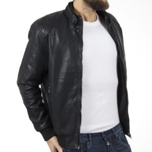 Μπουφάν Flight Bomber Jacket DOUBLE MLJK-03 Μαύρο