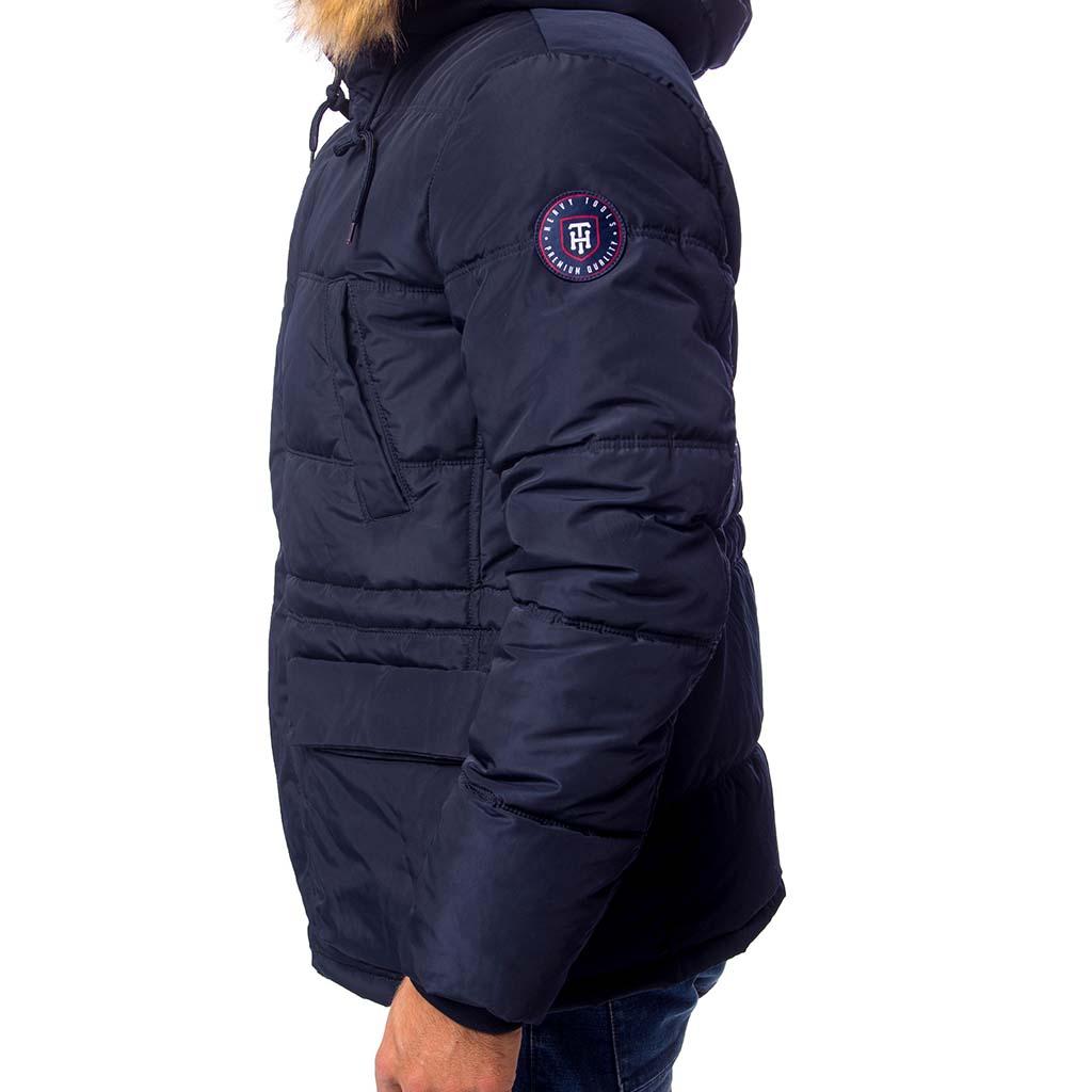 Χειμωνιάτικο Μπουφάν Jacket με Κουκούλα HEAVY TOOLS NICE18 Navy ... 3d57bf8a6e0