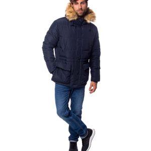 Χειμωνιάτικο Μπουφάν Jacket με Κουκούλα HEAVY TOOLS NICE18 Navy