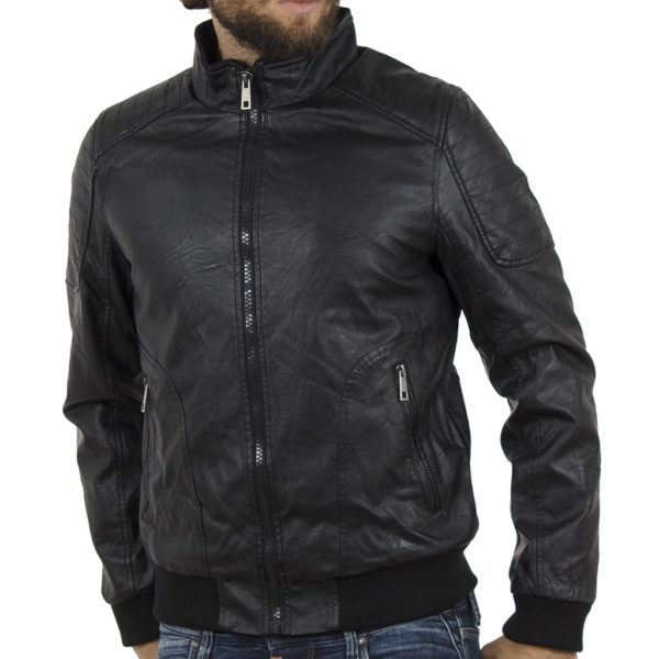 Μπουφάν Flight Bomber Jacket SPLENDID 40-201-003 Μαύρο