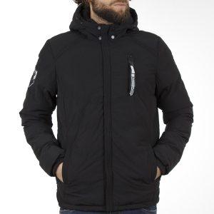 Μπουφάν Jacket με Κουκούλα SPLENDID 40-201-065 Μαύρο