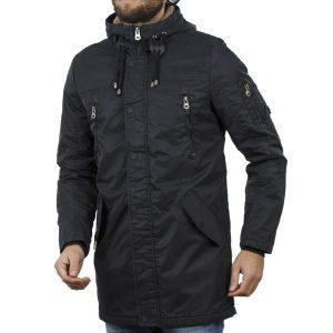 Μακρύ Μπουφάν Parka Jacket με Κουκούλα Garage55 GAM210-01218 Navy
