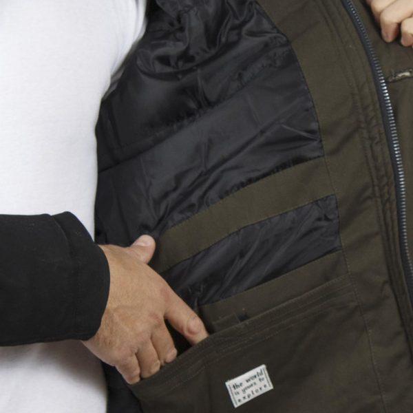 Μακρύ Μπουφάν Parka Jacket με Κουκούλα ICE TECH G638 Μαύρο