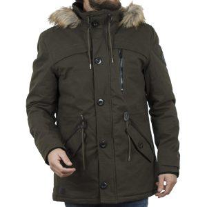 Μακρύ Μπουφάν Parka Jacket με Κουκούλα ICE TECH G638 Olive