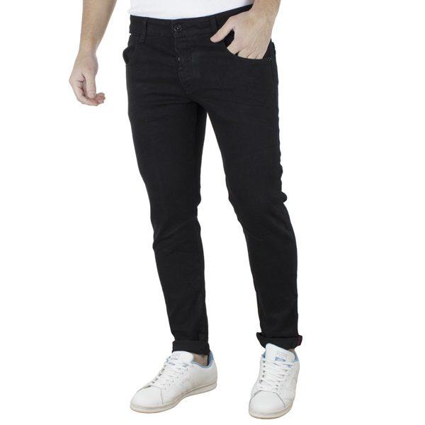 Τζιν Παντελόνι Skinny Fit Back2jeans Slim B3 Μαύρο