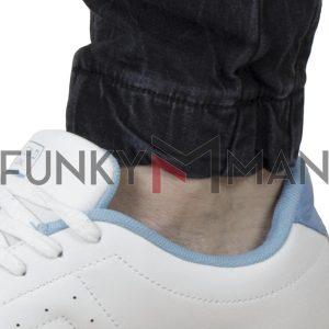 Τζιν Παντελόνι με Λάστιχα Chinos Back2jeans B6C Slim σκούρο Μπλε