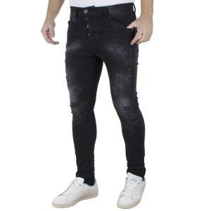 Τζιν Παντελόνι Slim Fit Back2jeans W11 Μαύρο